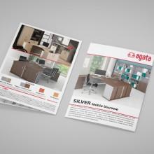 Projekt i wydruk ulotki dla firmy współpracującej z salonami Agata meble