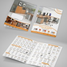 Projekt i wydruk ulotki dla producenta mebli